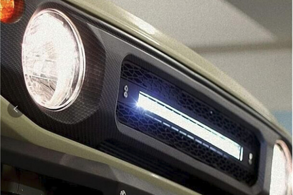 Picture of a Jimny Grille with 2 led bars for New Jimny 2019+